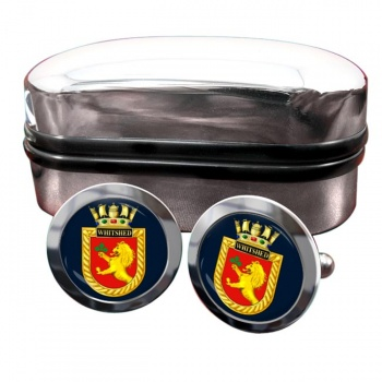 HMS Whitshed (Royal Navy) Round Cufflinks