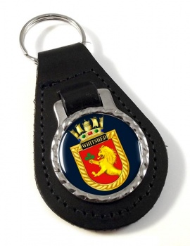 HMS Whitshed (Royal Navy) Leather Key Fob