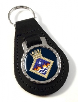HMS Wildfire (Royal Navy) Leather Key Fob