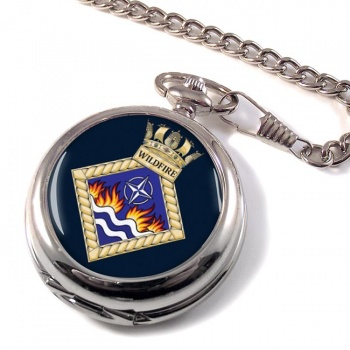 HMS Wildfire (Royal Navy) Pocket Watch