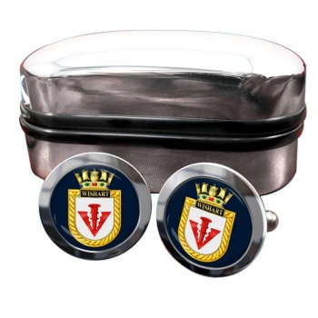 HMS Wishart (Royal Navy) Round Cufflinks