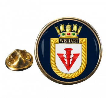 HMS Wishart (Royal Navy) Round Pin Badge