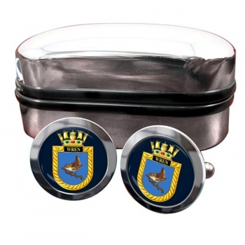 HMS Wren (Royal Navy) Round Cufflinks
