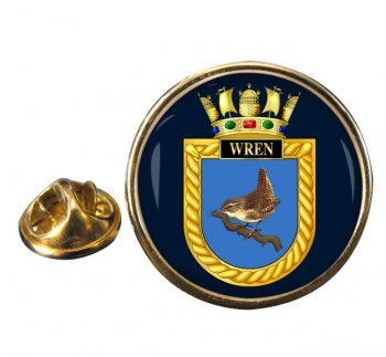 HMS Wren (Royal Navy) Round Pin Badge