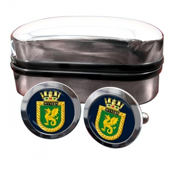 HMS Wyvern (Royal Navy) Round Cufflinks
