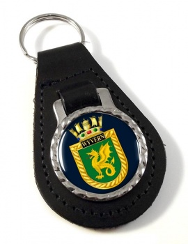 HMS Wyvern (Royal Navy) Leather Key Fob