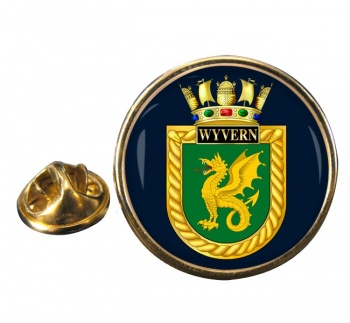 HMS Wyvern (Royal Navy) Round Pin Badge