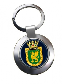 HMS Wyvern (Royal Navy) Chrome Key Ring