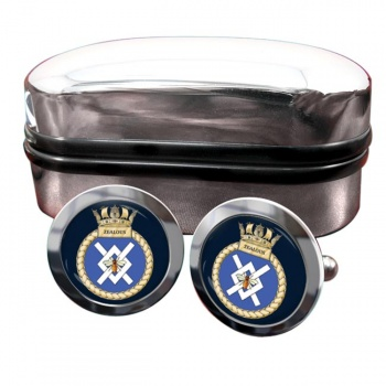 HMS Zealous (Royal Navy) Round Cufflinks