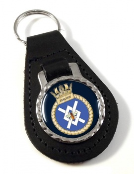 HMS Zealous (Royal Navy) Leather Key Fob
