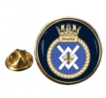 HMS Zealous (Royal Navy) Round Pin Badge