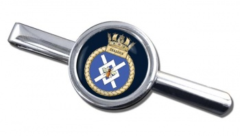 HMS Zealous (Royal Navy) Round Tie Clip