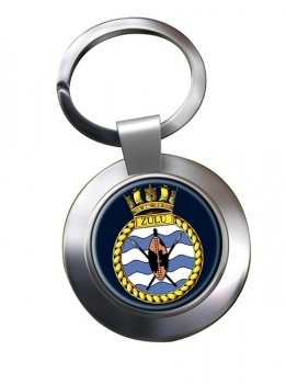 HMS Zulu (Royal Navy) Chrome Key Ring