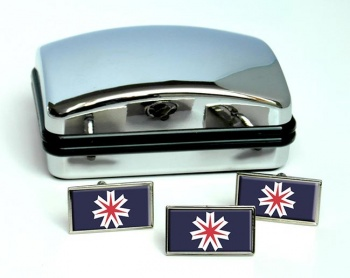 Hokkaido (Japan) Flag Cufflink and Tie Pin Set