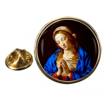 Blessed Virgin Mary Round Pin Badge