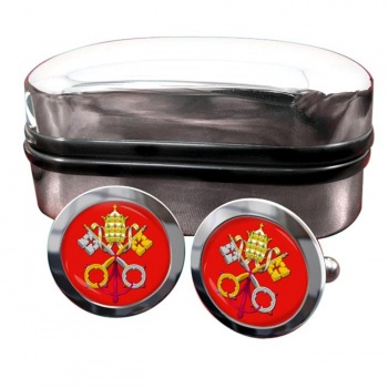 Holy See Coat of Arms Round Cufflinks