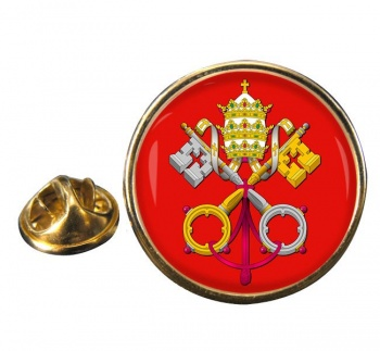Holy See Coat of Arms Round Pin Badge