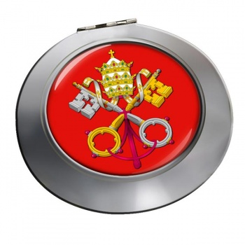 Holy See Coat of Arms Chrome Mirror