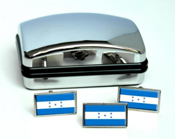 Honduras Flag Cufflink and Tie Pin Set