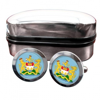 British Hong Kong Crest Cufflinks