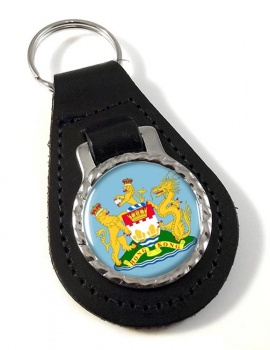 British Hong Kong Leather Key Fob