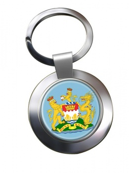 British Hong Kong Metal Key Ring