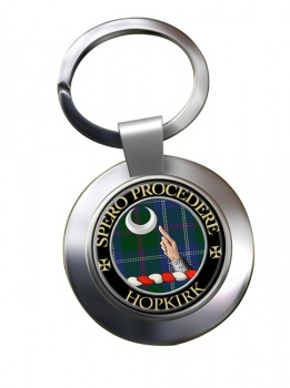 Hopkirk Scottish Clan Chrome Key Ring