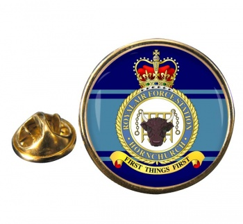 RAF Station Hornchurch Round Pin Badge