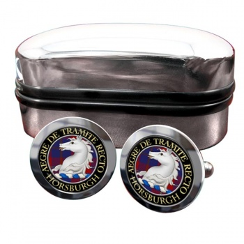 Horsburgh Scottish Clan Round Cufflinks