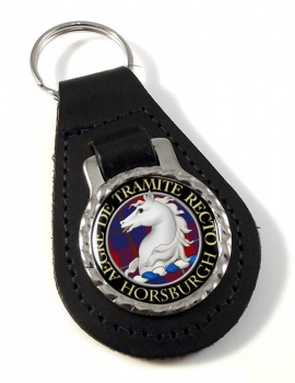 Horsburgh Scottish Clan Leather Key Fob