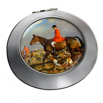 Horse and Hounds Chrome Mirror