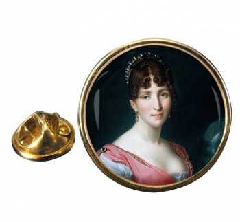 Hortense de Beauharnais Round Pin Badge