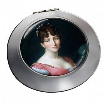 Hortense de Beauharnais Chrome Mirror