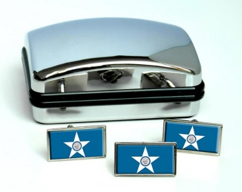 Houston TX  Flag Cufflink and Tie Pin Set