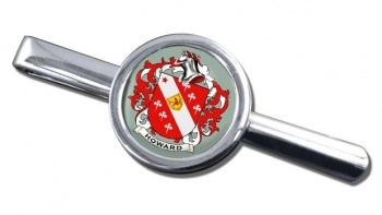 Howard Coat of Arms Round Tie Clip