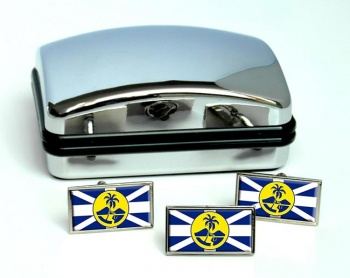 Lord Howe Island Flag Cufflink and Tie Pin Set