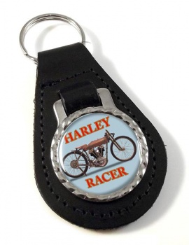 Harley Racer Leather Keyfob