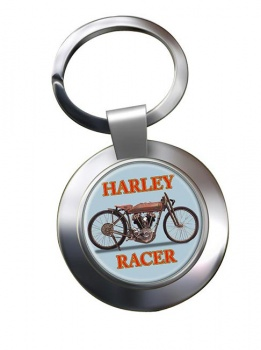 Harley Racer Chrome Key Ring