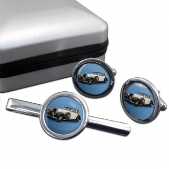 Hispano Suiza J12 Cufflink and Tie Clip Set