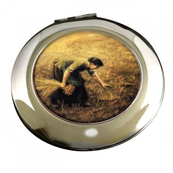 Gleaning by Arthur Hughes Round Mirror