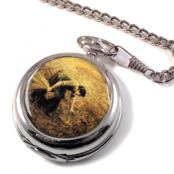 Gleaning by Arthur Hughes Pocket Watch