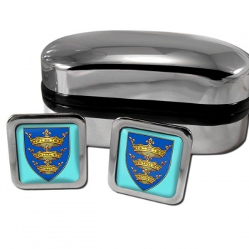 Kingston upon Hull England Square Cufflinks