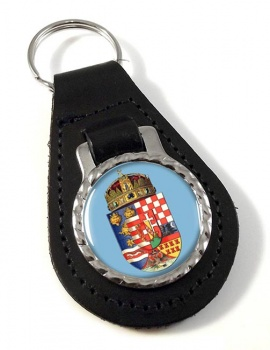 Hungary 1915 Coat of Arms Leather Key Fob