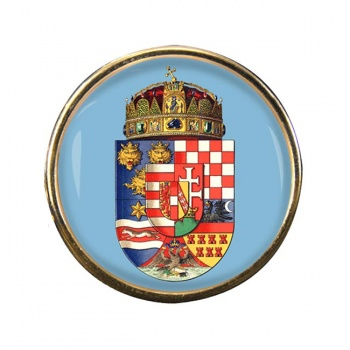 Hungary 1915 Coat of Arms Round Pin Badge