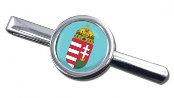 Hungary Coat of Arms Round Tie Clip