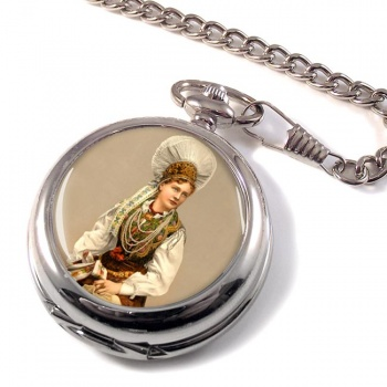 A Hungarian Woman Pocket Watch