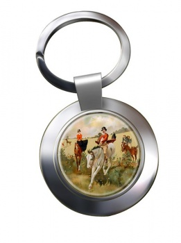 Hunting over the Ditch Chrome Key Ring