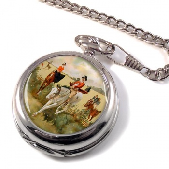 Hunting over the Ditch Pocket Watch