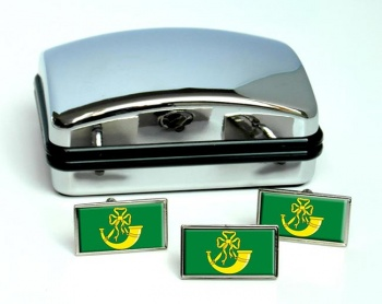 Huntingdonshire (England) Flag Cufflink and Tie Pin Set