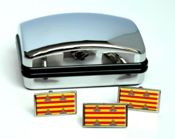 Ibiza (Spain) Flag Cufflink and Tie Pin Set